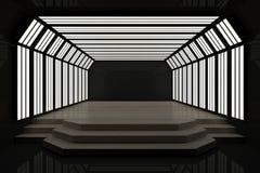 Intérieur foncé contemporain avec le podium illustration libre de droits