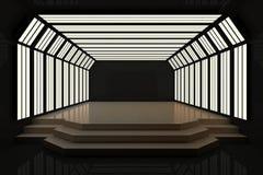 Intérieur foncé moderne avec le podium illustration libre de droits