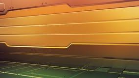 Intérieur futuriste avec l'étape vide Futur fond moderne Concept de pointe de la science fiction de technologie rendu 3d illustration libre de droits