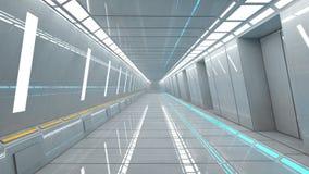 Intérieur futuriste de couloir Photos stock