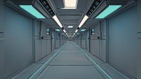 Intérieur futuriste de SCIFI Images stock