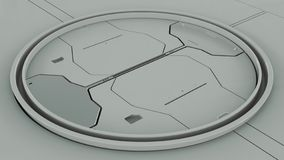 Intérieur futuriste gris de hardsurface illustration 3D illustration libre de droits