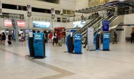 Intérieur gentil d'aéroport international Image libre de droits