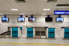 Intérieur gentil d'aéroport international Images libres de droits