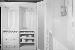 Intérieur gentil de garde-robe en bois photo stock