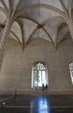 Intérieur gothique de fenêtre de Llotja de La Photographie stock libre de droits