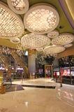 Intérieur grand de casino et d'hôtel de Lisbonne, Macao Photos libres de droits