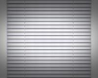 Intérieur horizontal argenté de décoration de fenêtre d'abat-jour Photo stock