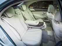 Intérieur hybride embrochable de la berline 2016 de Mercedes-Benz S 500e Image stock