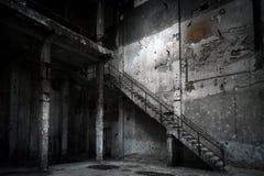 Intérieur industriel abandonné photo libre de droits