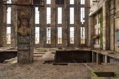Intérieur industriel abandonné images libres de droits