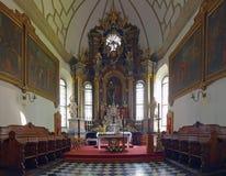 Intérieur la vieille cathédrale dans Zamosc, Pologne. Images stock