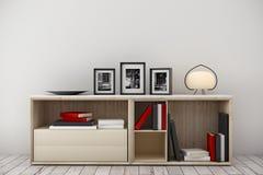 Intérieur lumineux avec des articles de décor Image stock