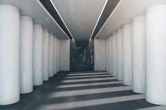 Intérieur lumineux avec des colonnes illustration stock