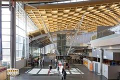 Intérieur lumineux d'aéroport d'Oslo Photographie stock libre de droits