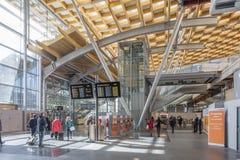 Intérieur lumineux d'aéroport d'Oslo Photos libres de droits