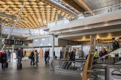 Intérieur lumineux d'aéroport d'Oslo Images libres de droits