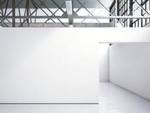 Intérieur lumineux de galerie de grenier rendu 3d Photo libre de droits