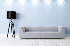 Intérieur lumineux moderne 3d rendent Images libres de droits