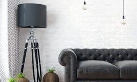 Intérieur lumineux moderne 3d rendent Photographie stock libre de droits