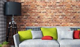 Intérieur lumineux moderne 3d rendent Image stock