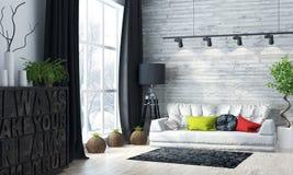 Intérieur lumineux moderne 3d rendent Photo stock