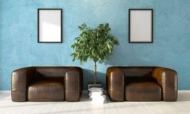 Intérieur lumineux moderne rendu 3d Image libre de droits