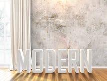 Intérieur lumineux moderne rendu 3d Images libres de droits