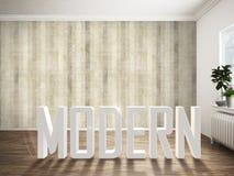 Intérieur lumineux moderne rendu 3d Images stock