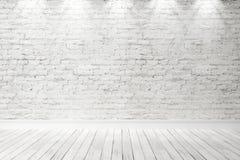 Intérieur lumineux vide 3d rendent Photos libres de droits