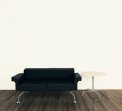 Intérieur minimal avec le divan simple Images libres de droits