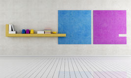 Intérieur minimaliste vide Image libre de droits
