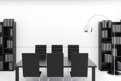 Intérieur moderne blanc de salle de conférence Image stock
