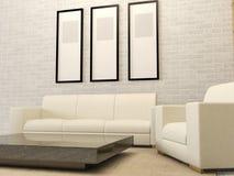 Intérieur moderne blanc de salon Images stock