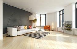 Intérieur moderne d'appartement photos stock