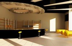 Intérieur moderne d'un bar Photo stock