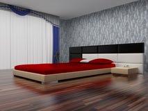 Intérieur moderne d'une chambre à coucher. Photo stock