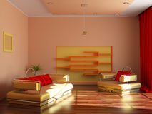 Intérieur moderne d'une salle Photographie stock