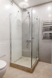 Intérieur moderne d'une salle de bains avec la douche Images libres de droits