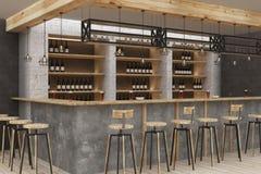 Intérieur moderne de bar Images libres de droits