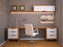 Intérieur moderne de bureau. illustration de vecteur