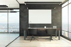 Intérieur moderne de bureau avec l'affiche illustration libre de droits