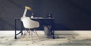 Intérieur moderne de bureau avec le bureau et la chaise Photo libre de droits