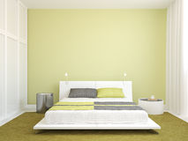 Intérieur moderne de chambre à coucher. illustration libre de droits