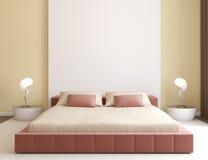Intérieur moderne de chambre à coucher. illustration stock