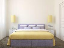Intérieur moderne de chambre à coucher. Photo stock