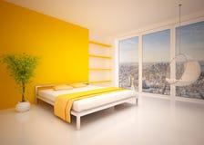 Intérieur moderne de chambre à coucher illustration stock