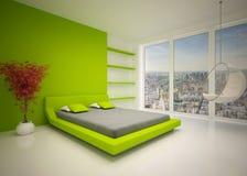 Intérieur moderne de chambre à coucher illustration libre de droits