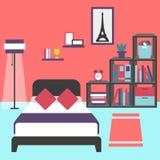 Intérieur moderne de chambre à coucher Image libre de droits