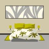Intérieur moderne de chambre à coucher Photos libres de droits